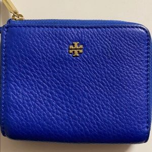 Royal blue Tory Burch pouch. Keychain/ wallet